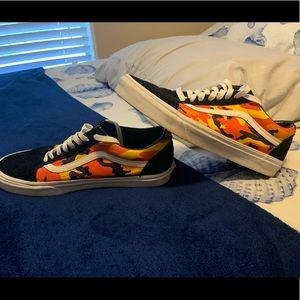 Orange Old Skool POP Camo